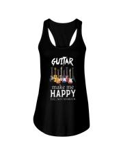 Guitar Makes me happy Ladies Flowy Tank thumbnail