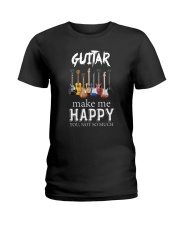 Guitar Makes me happy Ladies T-Shirt thumbnail