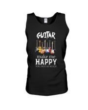 Guitar Makes me happy Unisex Tank thumbnail