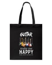 Guitar Makes me happy Tote Bag thumbnail