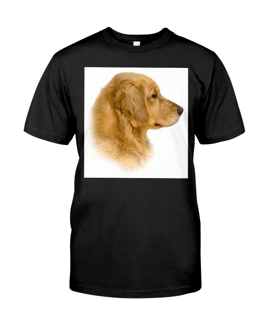 Golden Retriever Portrait Ash Grey  Classic T-Shirt