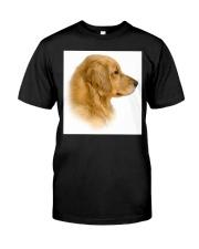 Golden Retriever Portrait Ash Grey  Classic T-Shirt front