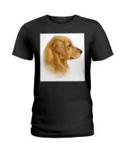 Golden Retriever Portrait Ash Grey  Ladies T-Shirt thumbnail