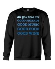 Good Friends Food Wine  Crewneck Sweatshirt thumbnail