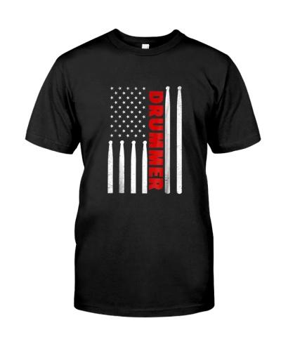 Drummer vintage american flag drumming d 630088