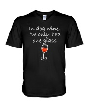 In Dog Wine  V-Neck T-Shirt thumbnail