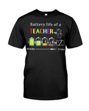 BATTERY LIFE OF A TEACHER Classic T-Shirt front