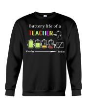 BATTERY LIFE OF A TEACHER Crewneck Sweatshirt thumbnail