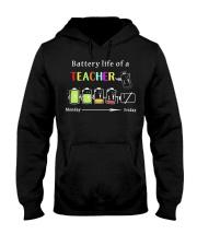 BATTERY LIFE OF A TEACHER Hooded Sweatshirt thumbnail