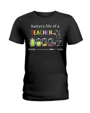 BATTERY LIFE OF A TEACHER Ladies T-Shirt thumbnail
