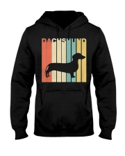 Vintage 1970s Style Dachshund Silhouette Dog Owner Hooded Sweatshirt thumbnail
