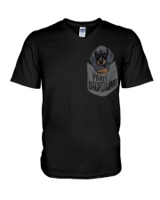 Pocket Dachshund 1 V-Neck T-Shirt thumbnail