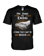True Love Me And My Dog  V-Neck T-Shirt thumbnail