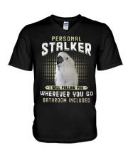 Personal Stalker Umbrella Cockatoo V-Neck T-Shirt thumbnail