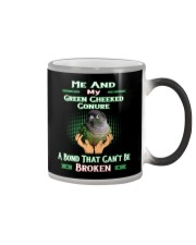 True Love Me And My Green Cheeked Conure Color Changing Mug thumbnail