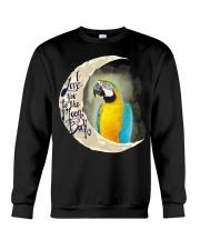 Blue An Gold Macaw I Love You To The Moon And Back Crewneck Sweatshirt thumbnail