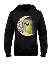 Blue An Gold Macaw I Love You To The Moon And Back Hooded Sweatshirt thumbnail