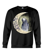 African Grey I Love You To The Moon And Back Crewneck Sweatshirt thumbnail