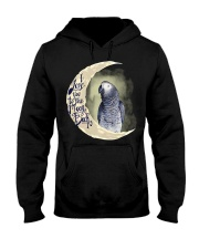 African Grey I Love You To The Moon And Back Hooded Sweatshirt thumbnail