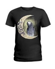 African Grey I Love You To The Moon And Back Ladies T-Shirt thumbnail