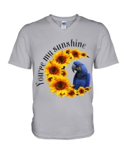 Hyacinth Macaw You Are My Sunshine  V-Neck T-Shirt thumbnail