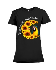 Blue And Gold Macaw You Are My Sunshine Premium Fit Ladies Tee thumbnail