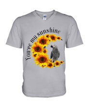 African Grey Parrot You Are My Sunshine  V-Neck T-Shirt thumbnail