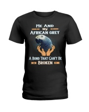 True Love Me And My African Grey  Ladies T-Shirt thumbnail