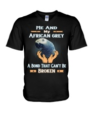 True Love Me And My African Grey  V-Neck T-Shirt thumbnail