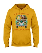 A Girl And Her Senegal Parrot Living Life In Peace Hooded Sweatshirt thumbnail