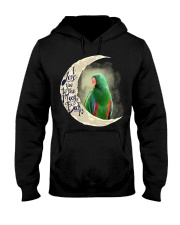 Green Eclectus I Love You To The Moon And Back Hooded Sweatshirt tile