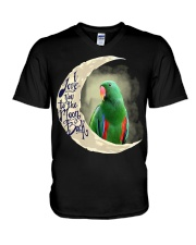Green Eclectus I Love You To The Moon And Back V-Neck T-Shirt thumbnail