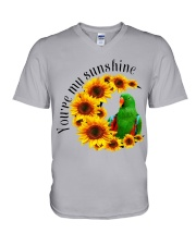 Green Eclectus You Are My Sunshine  V-Neck T-Shirt thumbnail
