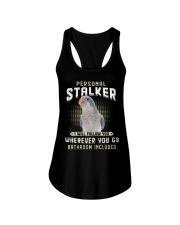 Personal Stalker Blue Quaker  Ladies Flowy Tank thumbnail