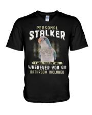 Personal Stalker Blue Quaker  V-Neck T-Shirt thumbnail