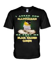 ASKED GOD FOR BLACK HEADED CAIQUE  V-Neck T-Shirt thumbnail