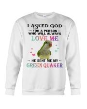 My Green Quaker Loves Me  Crewneck Sweatshirt thumbnail