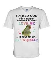 My Green Quaker Loves Me  V-Neck T-Shirt thumbnail