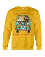A Girl And Her Cockatoo Living Life In Peace Crewneck Sweatshirt thumbnail