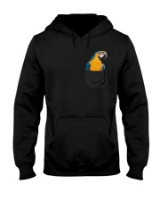 Blue And Gold Macaw In Pocket  Hooded Sweatshirt thumbnail