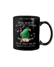 My Heart Needed Green Eclectus Mug front