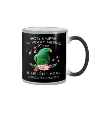 My Heart Needed Green Eclectus Color Changing Mug thumbnail