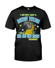 Blue and Gold Macaw Mommy Lover Classic T-Shirt front