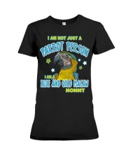Blue and Gold Macaw Mommy Lover Premium Fit Ladies Tee thumbnail