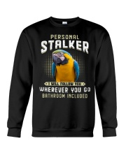 Personal Stalker Blue And Gold Macaw  Crewneck Sweatshirt thumbnail