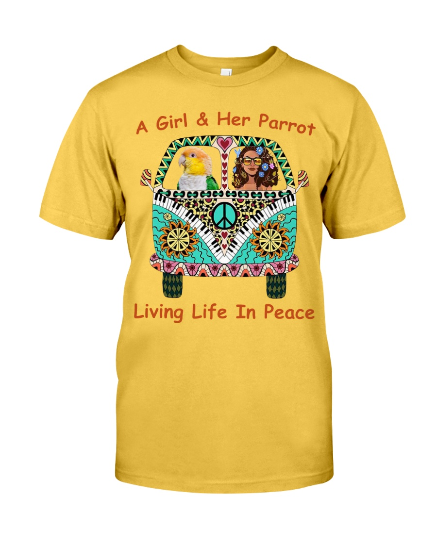 A Girl And Her Caique Living Life In Peace Classic T-Shirt
