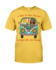 A Girl And Her Caique Living Life In Peace Classic T-Shirt front