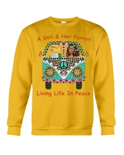 A Girl And Her Caique Living Life In Peace Crewneck Sweatshirt thumbnail