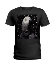 Lovely African Grey  Ladies T-Shirt thumbnail