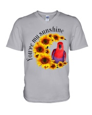 Red Eclectus You Are My Sunshine  V-Neck T-Shirt thumbnail